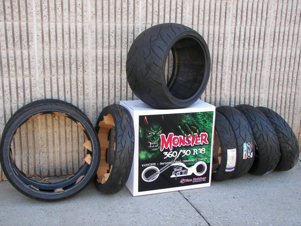 Vee Rubber VRM-302F (Front) and VRM-302R (Rear) Monster Motorcycle Tires