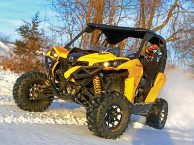 vendor.2015.vee-rubber.advantage-tires.on-can-am-maverick.front_.in-snow